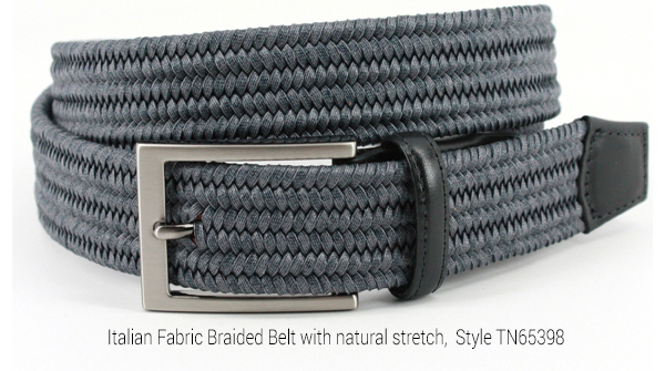 Italian Braided Belt - Style TN65398