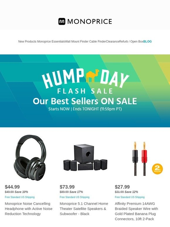 Monoprice.com: Email Exclusive! Flash Sale Ends Tonight | Select 4 ...