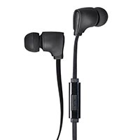 Monoprice Premium 3.5mm Wired Earbuds Headphones with Mic for Apple and Android Devices