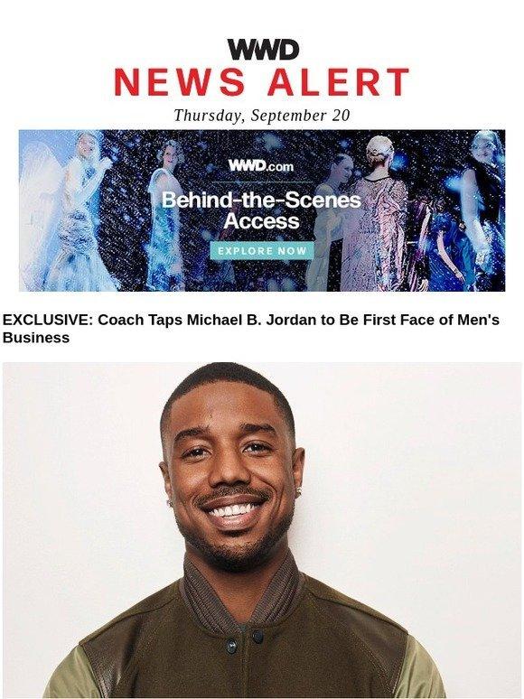 Schott Nyc  EXCLUSIVE  Coach Taps Michael B. Jordan to Be First Face of  Men s Business  98e152efa