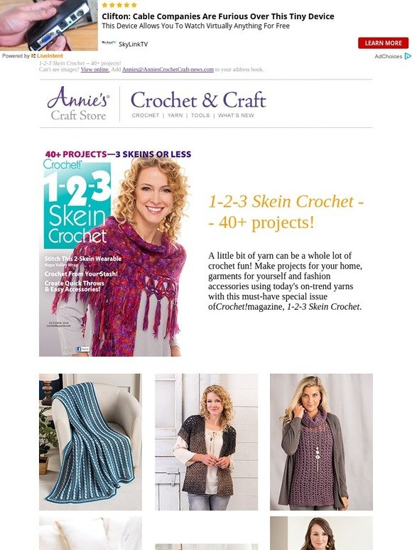 Annie\'s: 1-2-3 Skein Crochet -- 40+ projects! | Milled