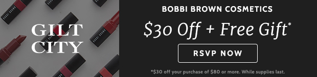 $30 off Bobbi Brown + free gift!