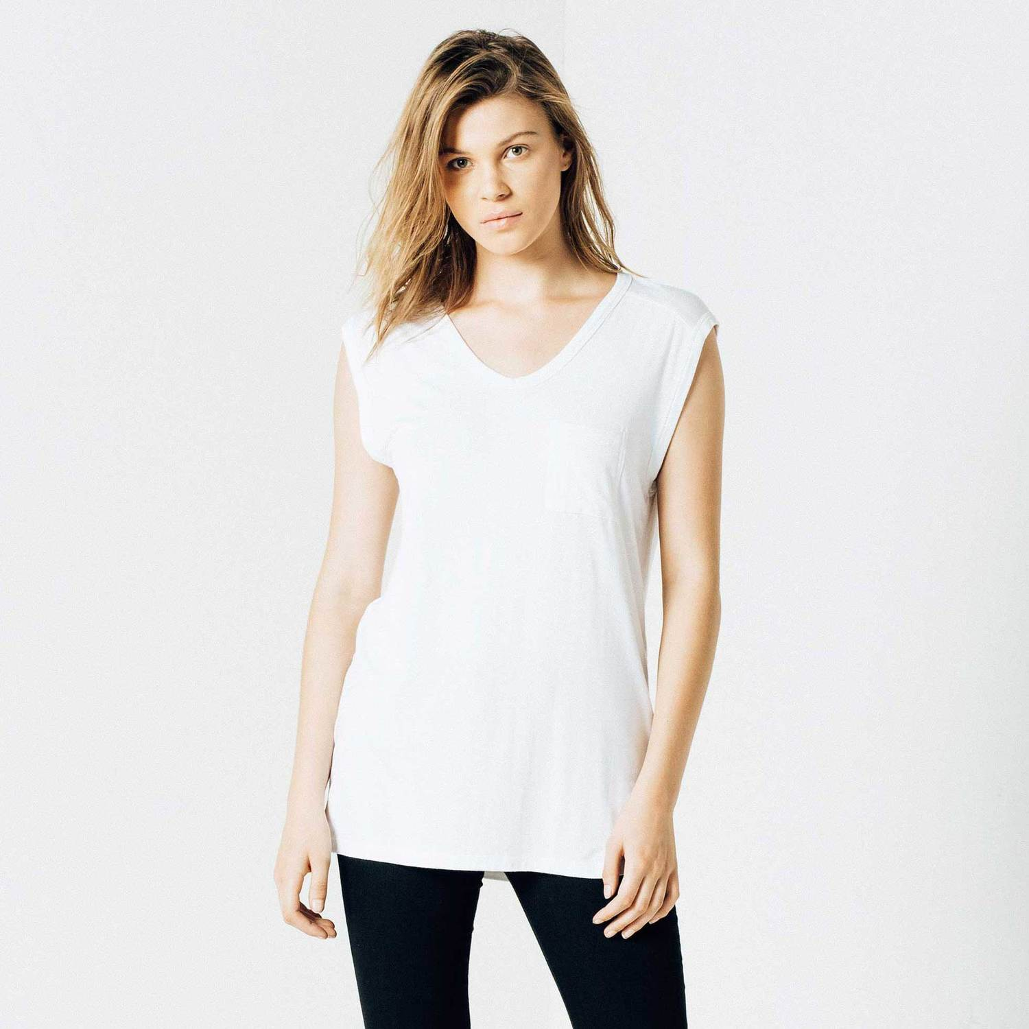 Modal Muscle Tee in White