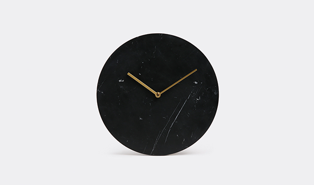 Norm marble wall clock by Menu