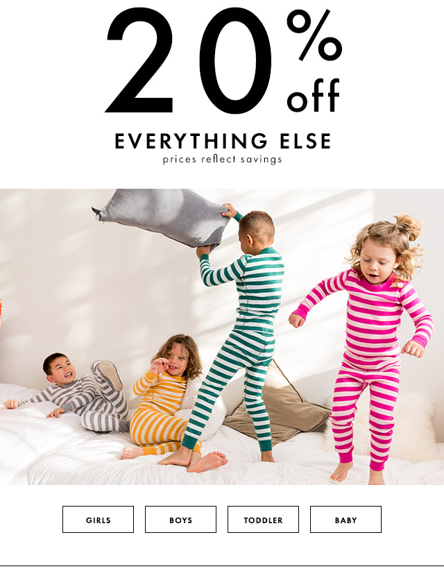 Twenty percent off everything else