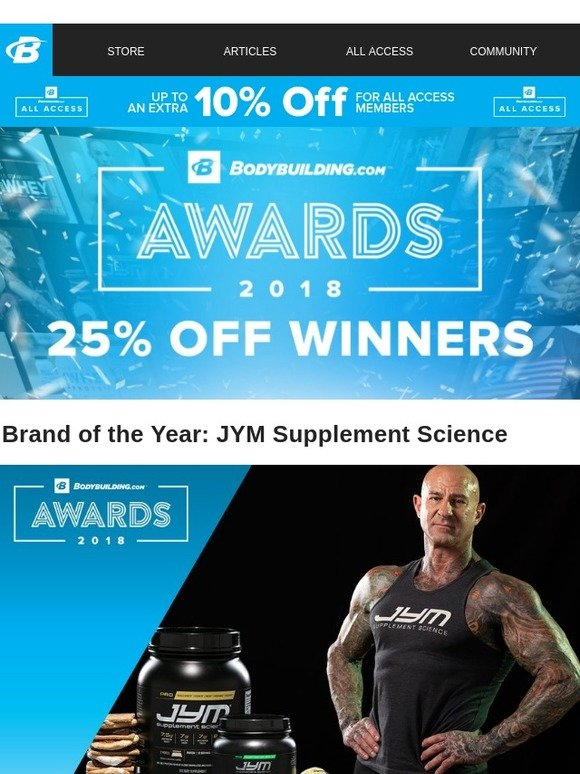 Bodybuilding com: Check out the Brand and Influencer of the