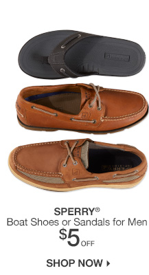 $5 Off Sperry for Men