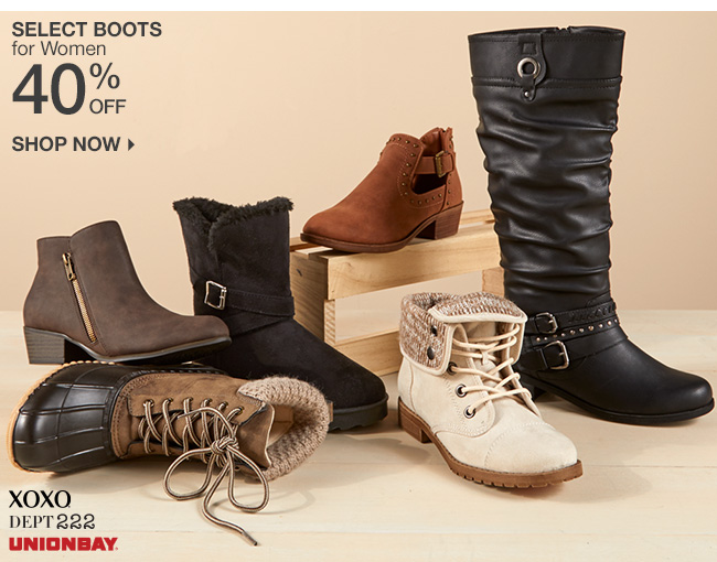 Shop 40% Off Select Boots for Women