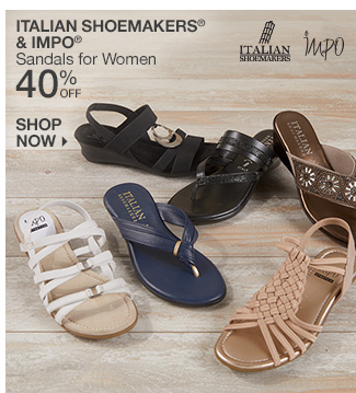 Shop 40% Off Italian Shoemakers & Impo Sandals