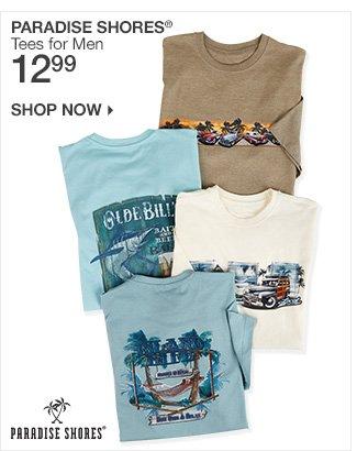 Shop 12.99 Paradise Shores Tees for Men