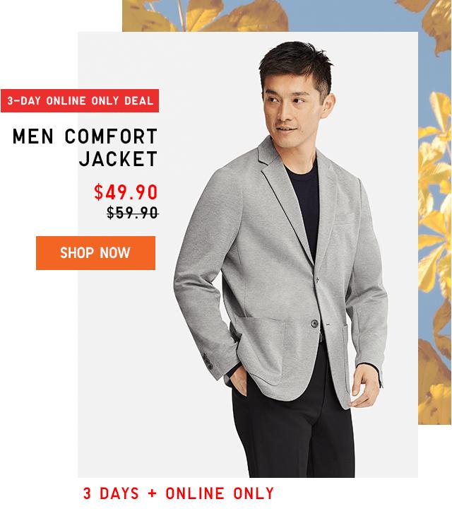 MEN COMFORT JACKET $49.90 - SHOP NOW