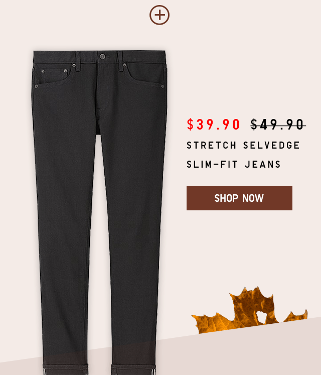 $39.90 STRETCH SELVEDGE SLIM-FIT JEANS - SHOP NOW