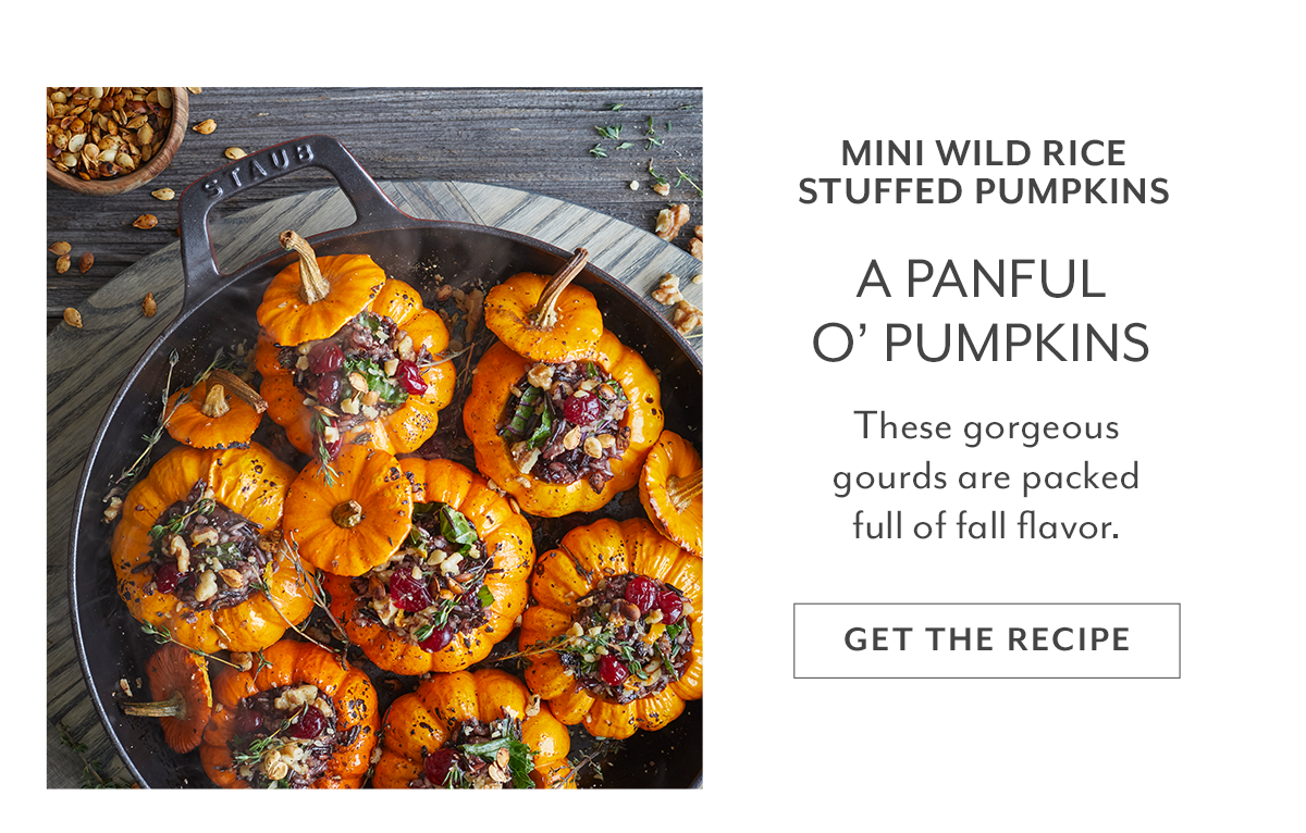 Mini Wild Rice Stuffed Pumpkin