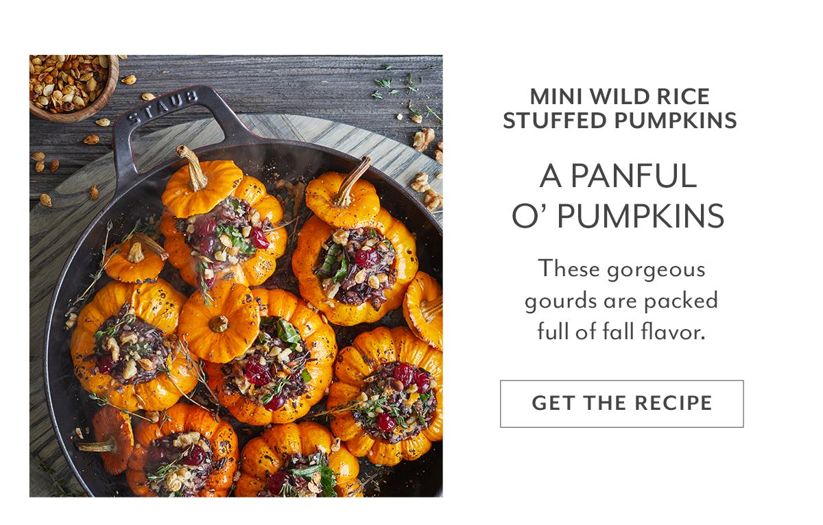 Mini Wild Rice Stuffed Pumpkin