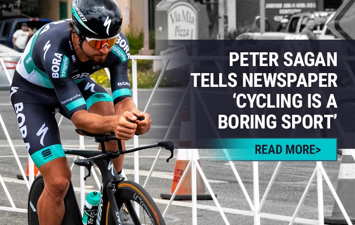 Peter Sagan tells newspaper cycling is a boring sport