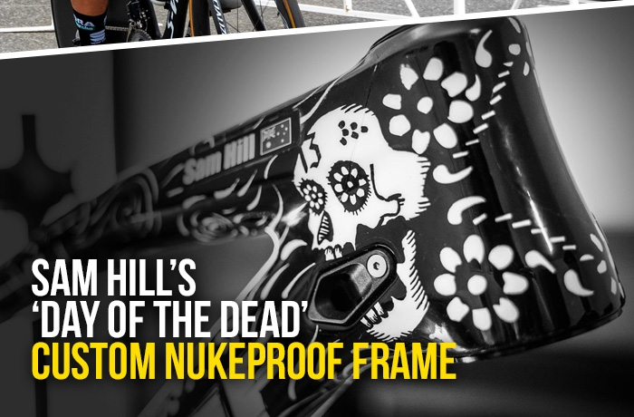 Sam Hills Day of the Dead custom Nukeproof frame