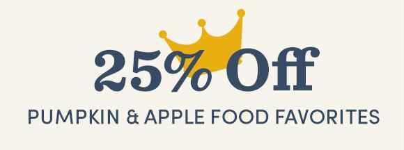 25% Off Pumpkin & Apple Food Favorites