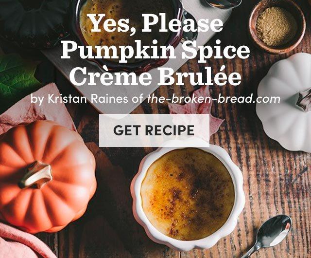 Pumpkin Spice Creme Brulee