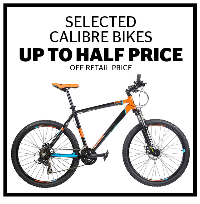 Up To Half Price Calibre Bikes