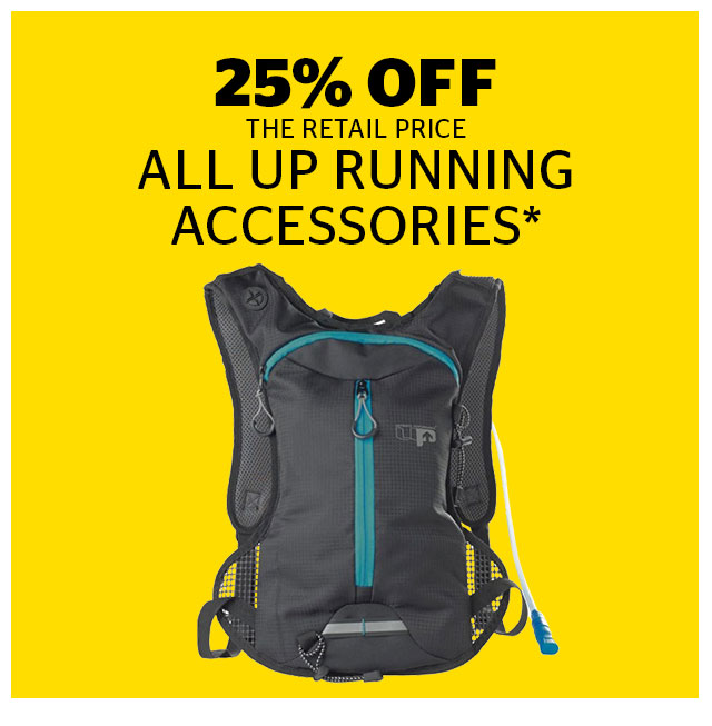 25% Off All UP Running Accessories