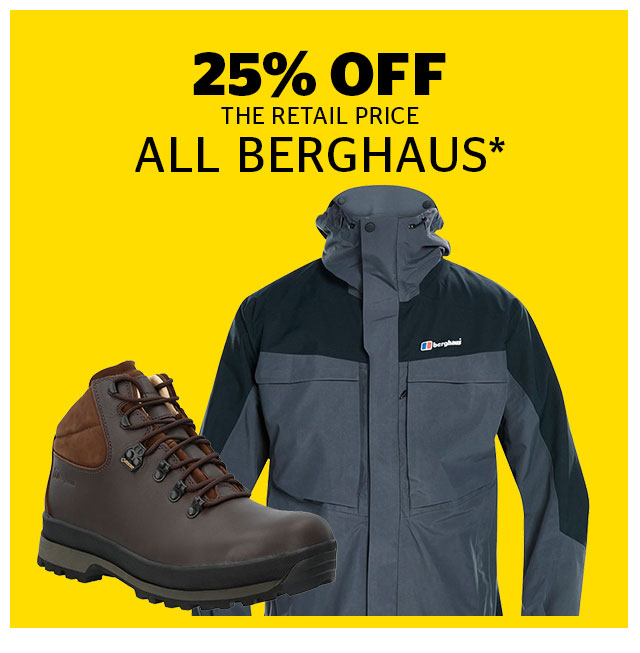 25% Off All Berghaus