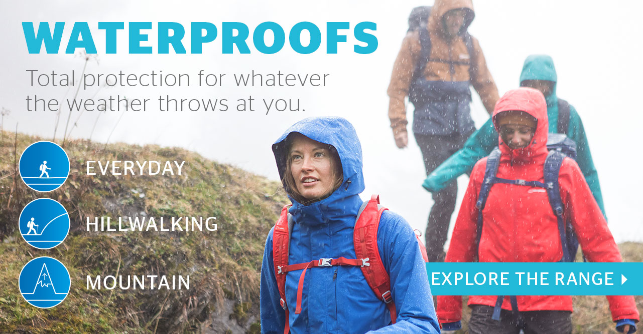 Waterproofs - Total protection for whatever the weather throws at you.