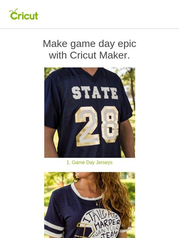 Cricut: 🏈 Game-Day Inspiration with Cricut Maker | Milled