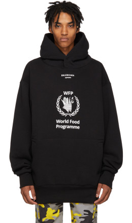 Balenciaga - Black World Food Programme Hoodie