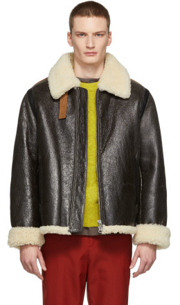 Acne Studios - Brown Shearling Jacket