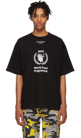 Balenciaga - Black World Food Programme T-Shirt