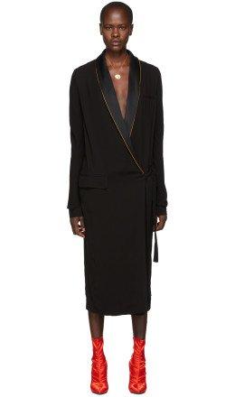 Haider Ackermann - Black Durero Wrap Dress