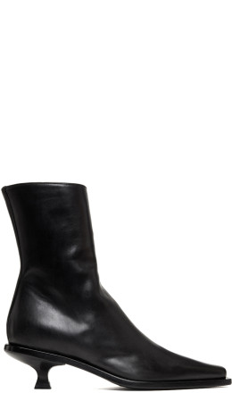 Ann Demeulemeester - Black Kitten Heel Boots