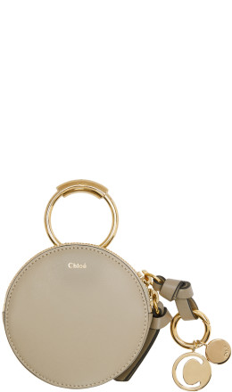 Chlo - Grey Leather Coin Pouch