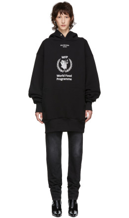 Balenciaga - Black World Food Programme Hoodie