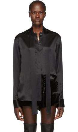 Haider Ackermann - Black Silk Dali Shirt