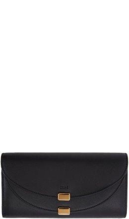 Chlo - Black Georgia Long Flap Wallet