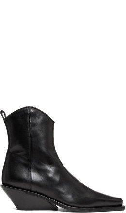Ann Demeulemeester - Black Chunky Heel Boots