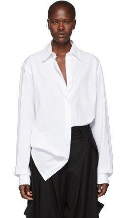Ann Demeulemeester - White Oversized Cotton Shirt
