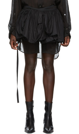Ann Demeulemeester - Black Pleated Miniskirt