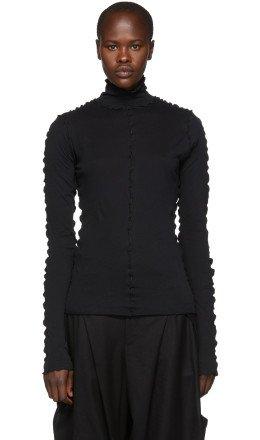 Ann Demeulemeester - Black Cotton Turtleneck