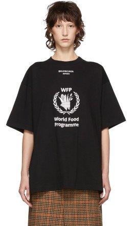 Balenciaga - Black World Food Programme T-Shirt