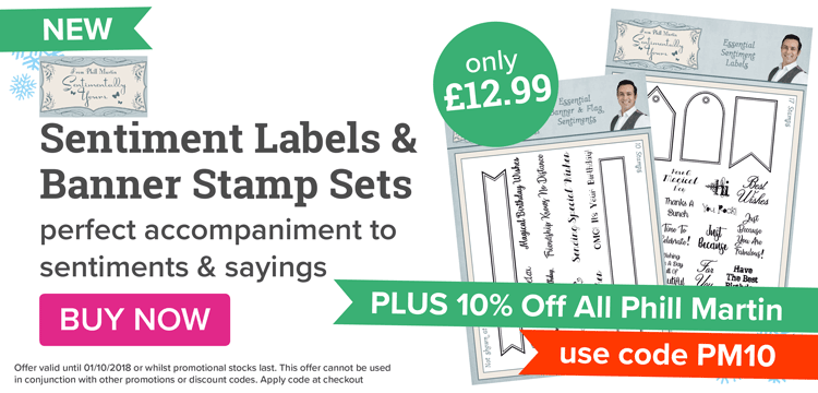Phill Martin Lable & banner stamp set