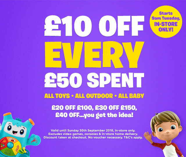 10 off 50 promotion 2018