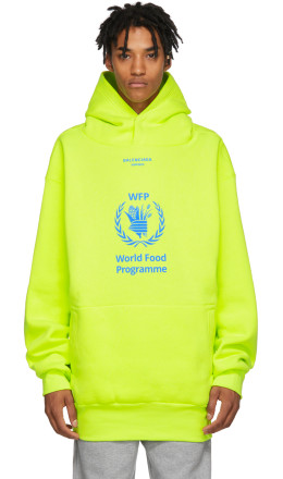 Balenciaga - Yellow World Food Programme Hoodie