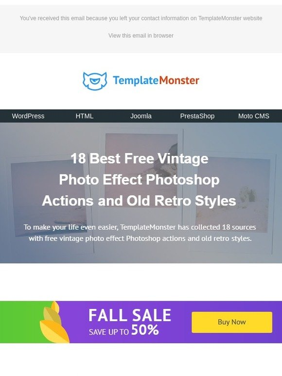 Template Monster: 18 Best Free Vintage Photo Effect