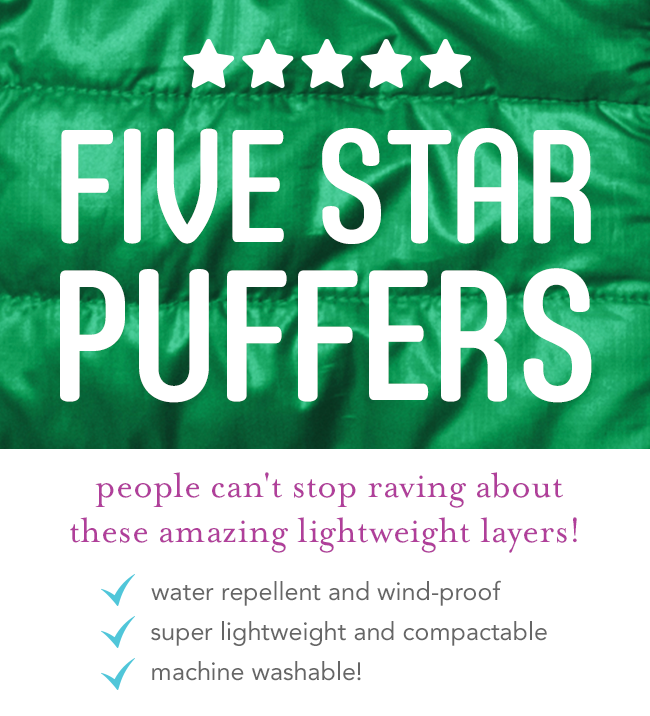 five-star puffers: people can't stop raving about these amazing lightweight layers!