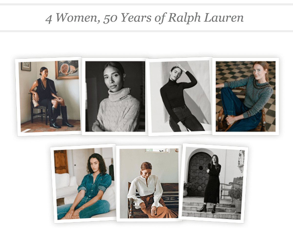 4 Women, 50 Years of Ralph Lauren