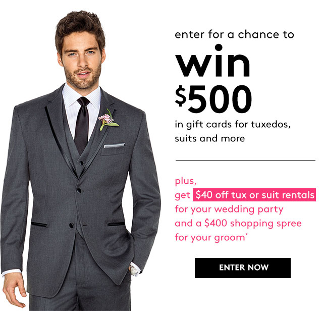 David S Bridal Enter Our 500 Men S Wearhouse Sweepstakes