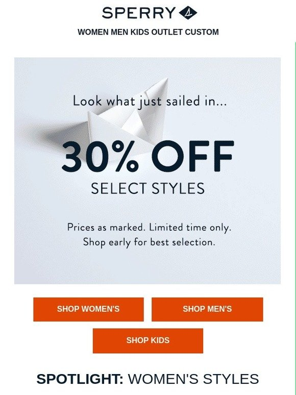 sperry outlet coupon cheap online