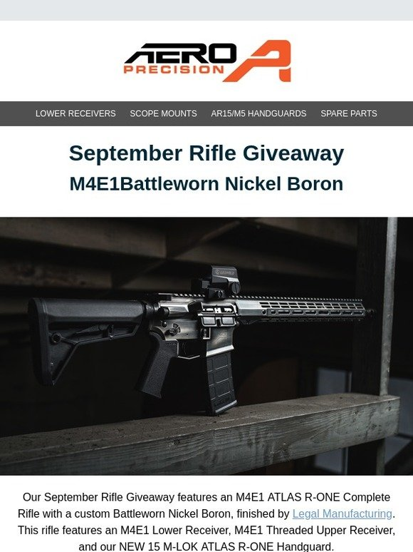 aero precision: September Rifle Giveaway ENDS SUNDAY! | Milled